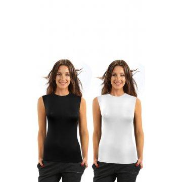 2PAK Czarna Biała Koszulka...