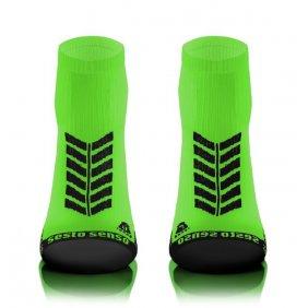 Skarpety sportowe SPORT SOCKS uniwersalne zielone bawełniane