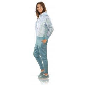 Sportowy komplet dresy bluza spodnie strój domowy MONO mięta góra dół