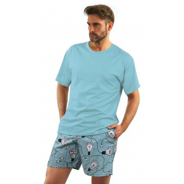 Piżama męska ŻARÓWKI  (Krótka)