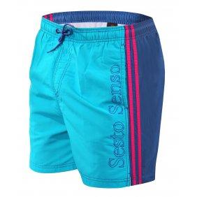 Szorty kąpielowe męskie Lignano kolorowe niebieskie turkusowe