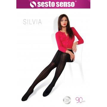 Rajstopy fashion SILVIA 90 DEN